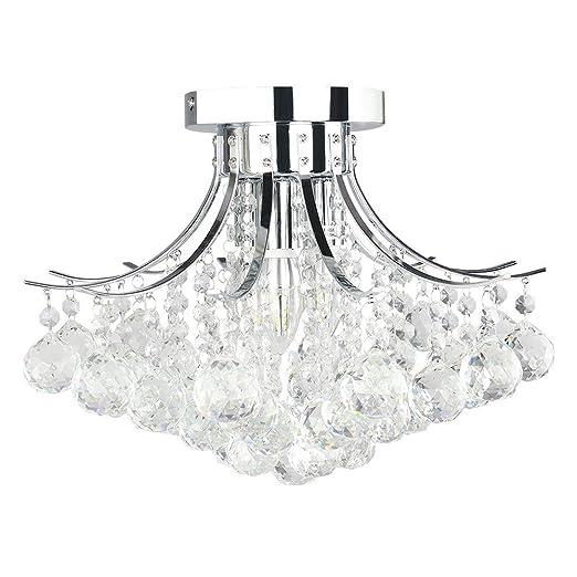 Glighone Lámpara Colgante Cristal 3 Led 40W Lámpara de Techo Luz Moderna Lámpara de Araña Iluminación Contemporáneo Elegante No Incluye Bombillas, ...