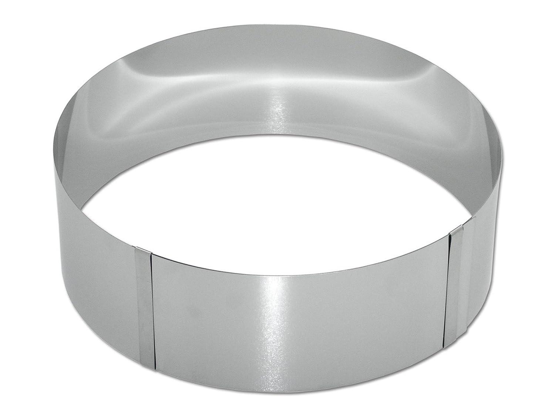 chg 8096-05 Cake Ring / 8 cm High/Infinitely Adjustable to 30 cm Diameter C. Hermann Gross KG