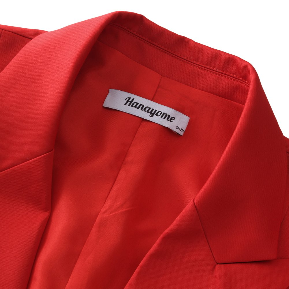 CMDC Women's 2 PC Business Casual Shawl Collar Formal Blazer Suit Pants Sets MI40 (Red, 8) by CMDC (Image #2)