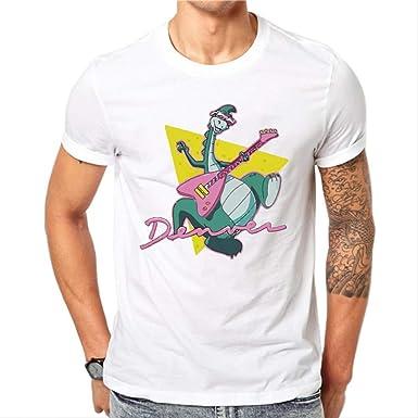 Camiseta para Hombre, Dinosaurio Tocando La Guitarra Rock and Roll ...