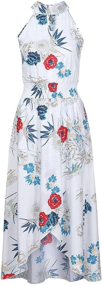 Beach Dresses For Women Boho Floral Long Dress Summer Sleeveless Sundress Liraly