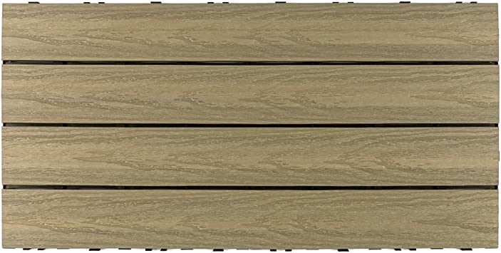 10 Case 1 x 1 NewTechWood US-QD-ZX-IP Ultrashield Naturale Outdoor Composite Quick Deck Tile Brazilian Ipe