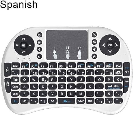 heDIANz i8 - Mini ratón inalámbrico para Teclado con Panel táctil para PC Smart TV (2,4 GHz) Blanco Blanco Spanisch: Amazon.es: Informática