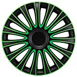 15 inch Le Mans Green Wheel Cover Kit - 4 Pack
