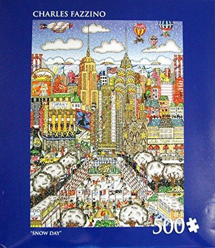 CHARLES FAZZINO SNOW DAY 500 Piece Puzzle (14
