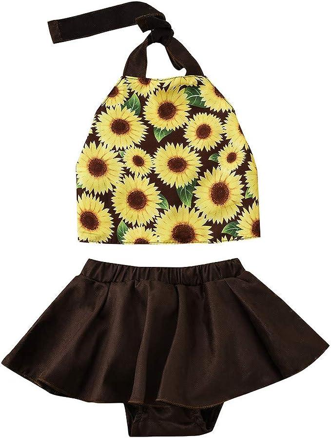 SO-buts girls outfits Conjunto de Chaleco de Girasol y Falda para ...