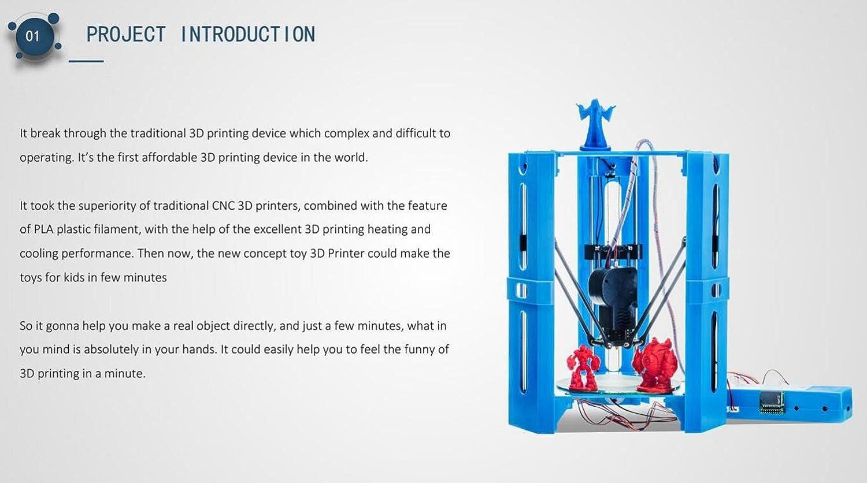 101hero Mini juguetes Desktop DIY impresoras 3d impresoras Home ...