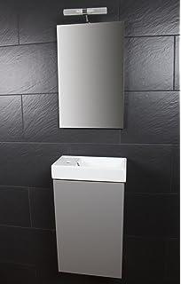 Wc schrank  Gäste-WC Badmöbel Waschbecken mit Unterschrank: Amazon.de: Küche ...