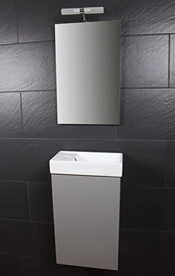 Amazon.de: Galdem Bad-Set CUBE Gäste WC Set Gästebad Badmöbel ...