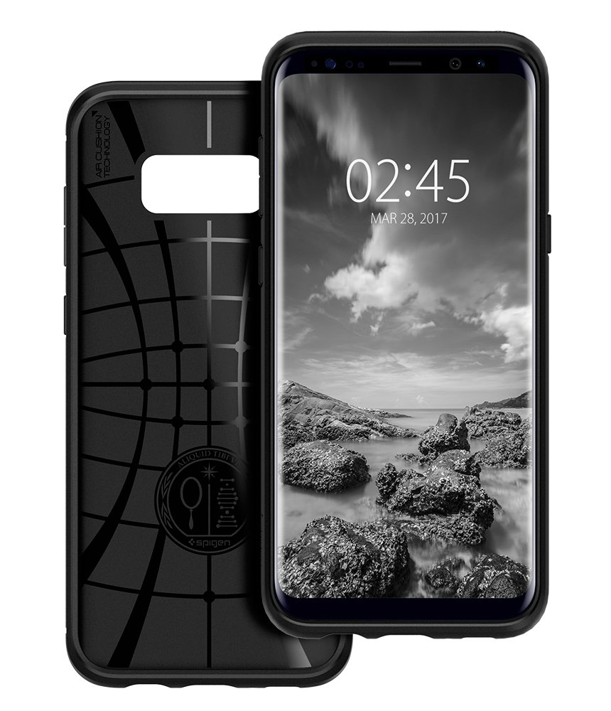 new concept f931e 2ee49 Galaxy S8 Case, Samsung Galaxy S8 Case, Spigen Liquid Air Armor - Durable  Flex and Easy Grip Design for Samsung Galaxy S8 (2017) - Black