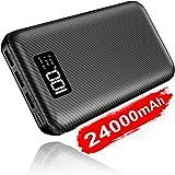 Portable Charger Power Bank 24000mAh - High Capacity with LCD Digital Display,3 USB Output