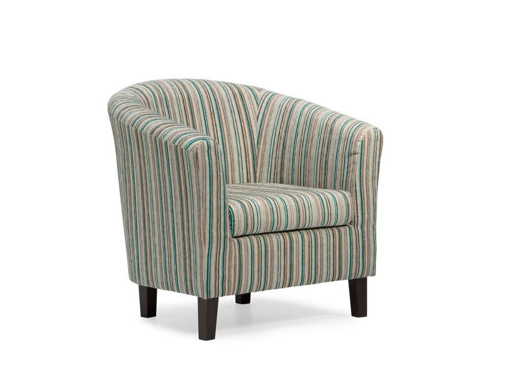 Dorset Stripe Tub Chair - Available in 4 Colours (Teal) Harmony Furnishings