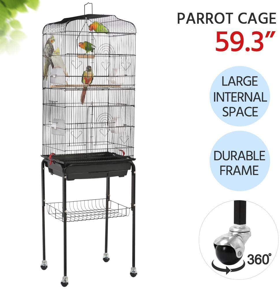 Rolling Stand for Bird Cage Stand Only