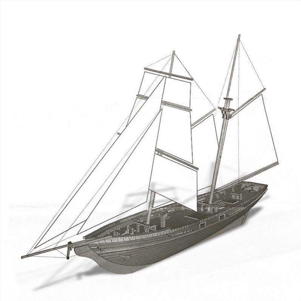 Maquetas de Barcos Kits de Modelo de Barco 1:70 Madera ...