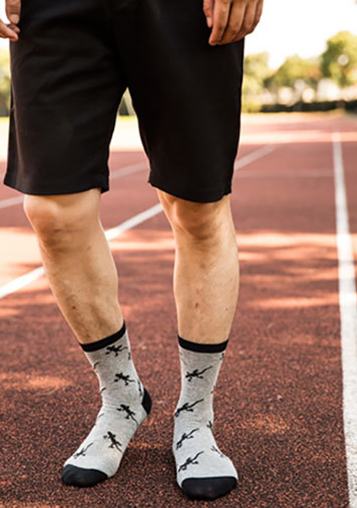 Gecko And LizardCrazy Socks Casual Cotton Crew Socks Cute Funny Sock Great For Sports And Hiking