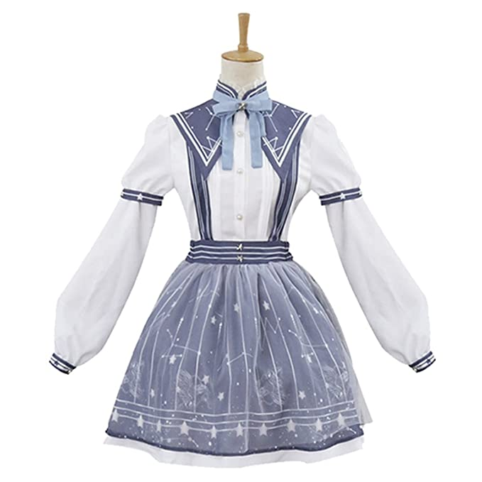 Amazon.com Girls Sweet Loli Dresses Anime Maid Skirts