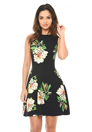 00a072dd2fff AX Paris Women s Floral Skater Dress at Amazon Women s Clothing store