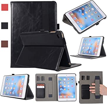 KITFINEEU Funda para iPad Mini 4, Estuche Simple de Cuero PU,Funda Protectora con Reposamanos, Negro: Amazon.es: Electrónica