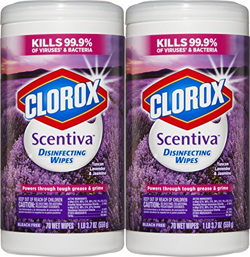 Clorox Scentiva Disinfecting Wipes Value Pack, Tuscan Lavender and Jasmine, 140 Count