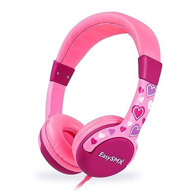 EasySMX Auriculares Niños, [Regalos] Auriculares Cascos de Diadema para Niños, Cascos Infantiles