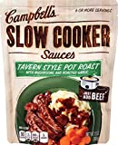 Let your slow cooker do the work. Simply add Campbell's Slow Cooker Sauces Tavern Style Pot Roast to a few pounds of boneless beef chuck roast and get on with your day. When it's time to lift the lid, you'll have a delicious pot roast smother...