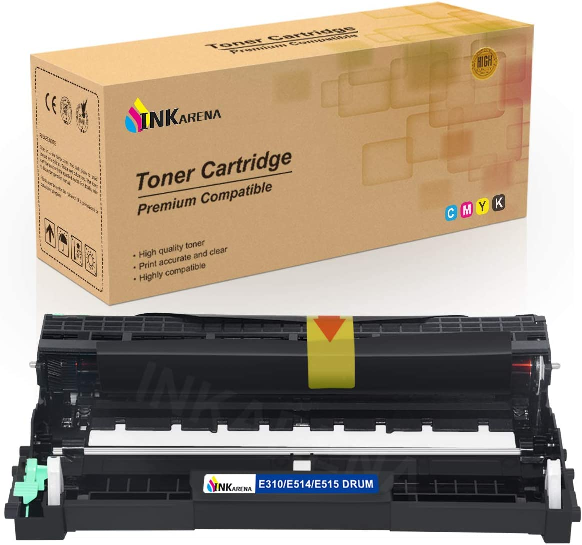 E310 E514 E515 Drum Unit Cartridge Replacement for Dell E310dw E514dw E515dw E515dn Printer Toner Cartridge (High Yield 12,000 Pages, 1 Pack) by Inkarena