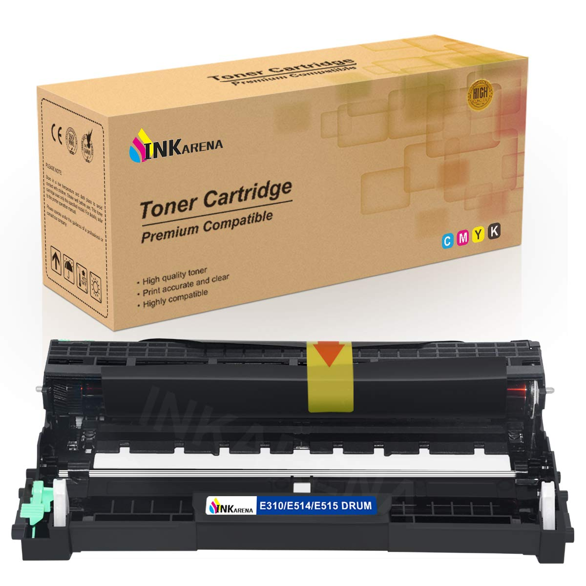 E310 E514 E515 Drum Unit Cartridge Replacement for Dell E310dw E514dw E515dw E515dn Printer Toner Cartridge (High Yield 12,000 Pages, 1 Pack) by ...