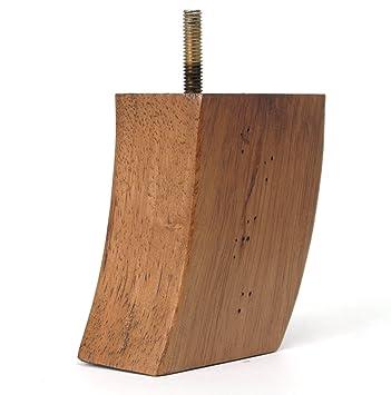 Leg Daddy  Inch Light Oak Finished Wood Sofa Leg Set of
