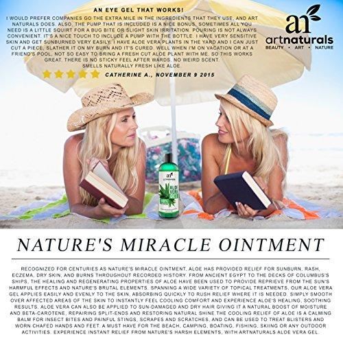 ArtNaturals Aloe Vera - Face, Hair Body - 100% - Sun Eczema, Bug or Bites, skin, Acne