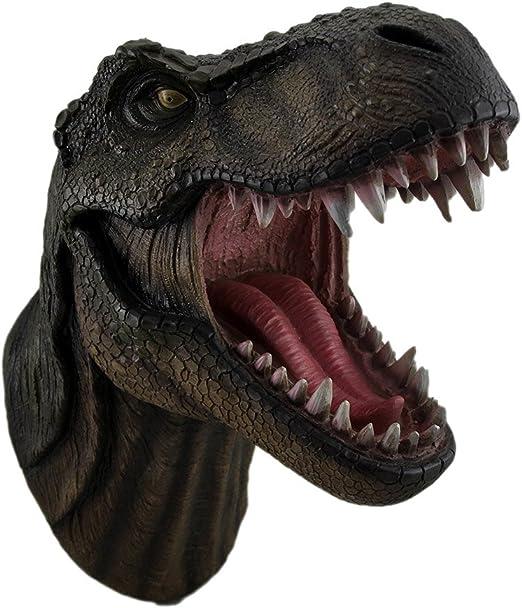 Amazon Com Dwk Jurassic King T Rex Tyrannosaurus Rex Dinosaur Wall Mounted Head Statue Bust 15 Inches Long Everything Else