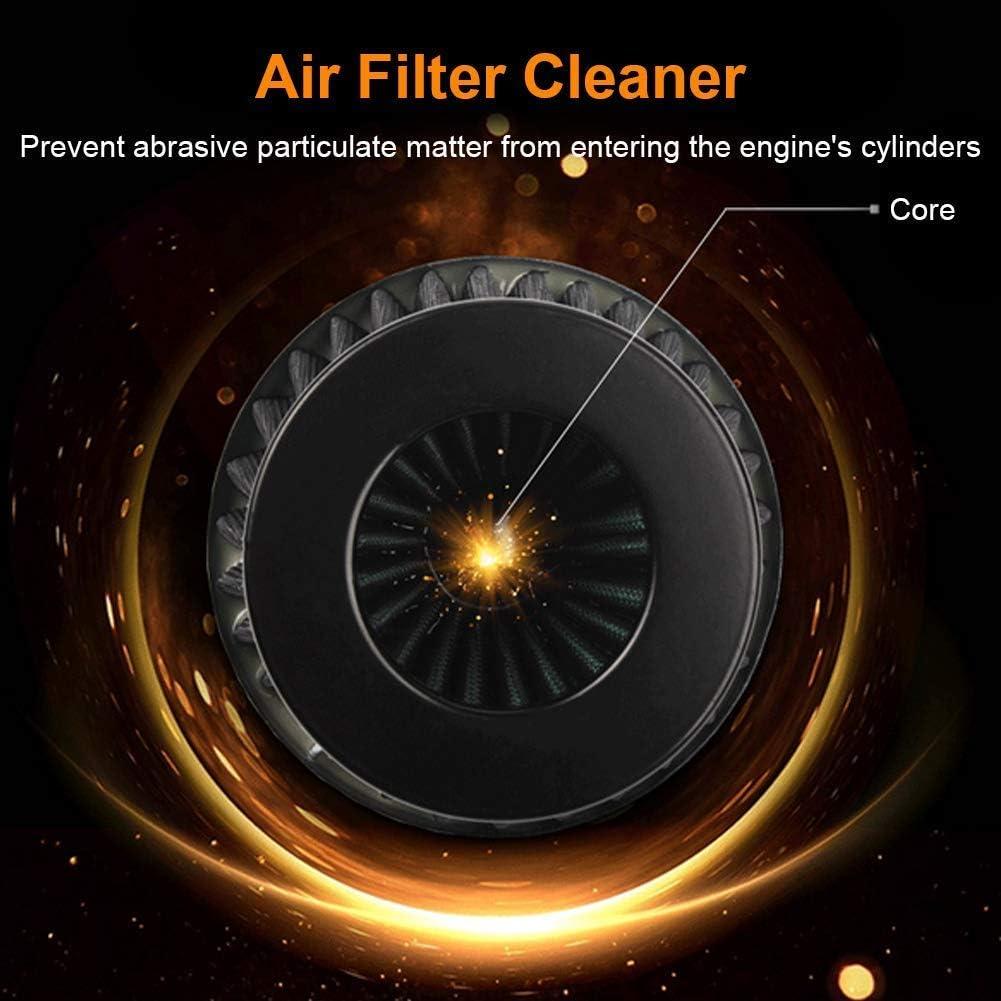 Black Intake Air Filter Motorcycle Air Filter Universal Motorcycle Intake Air Filter Kit with Offroad ATV Quad Dirt Pit Bike Gold 38mm Air Filter