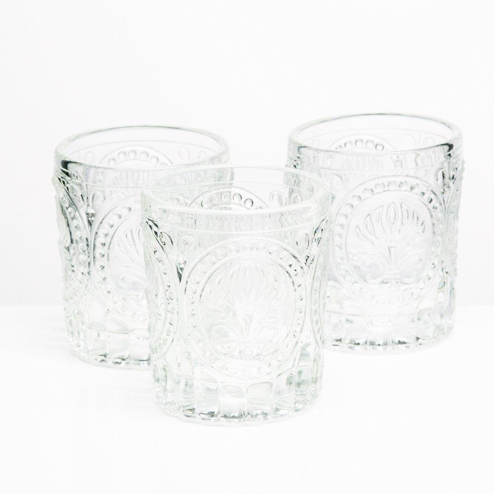 6b910cf12a Amazon.com: Richland Votive Holder Clear Textured Glass Set of 48: Home &  Kitchen