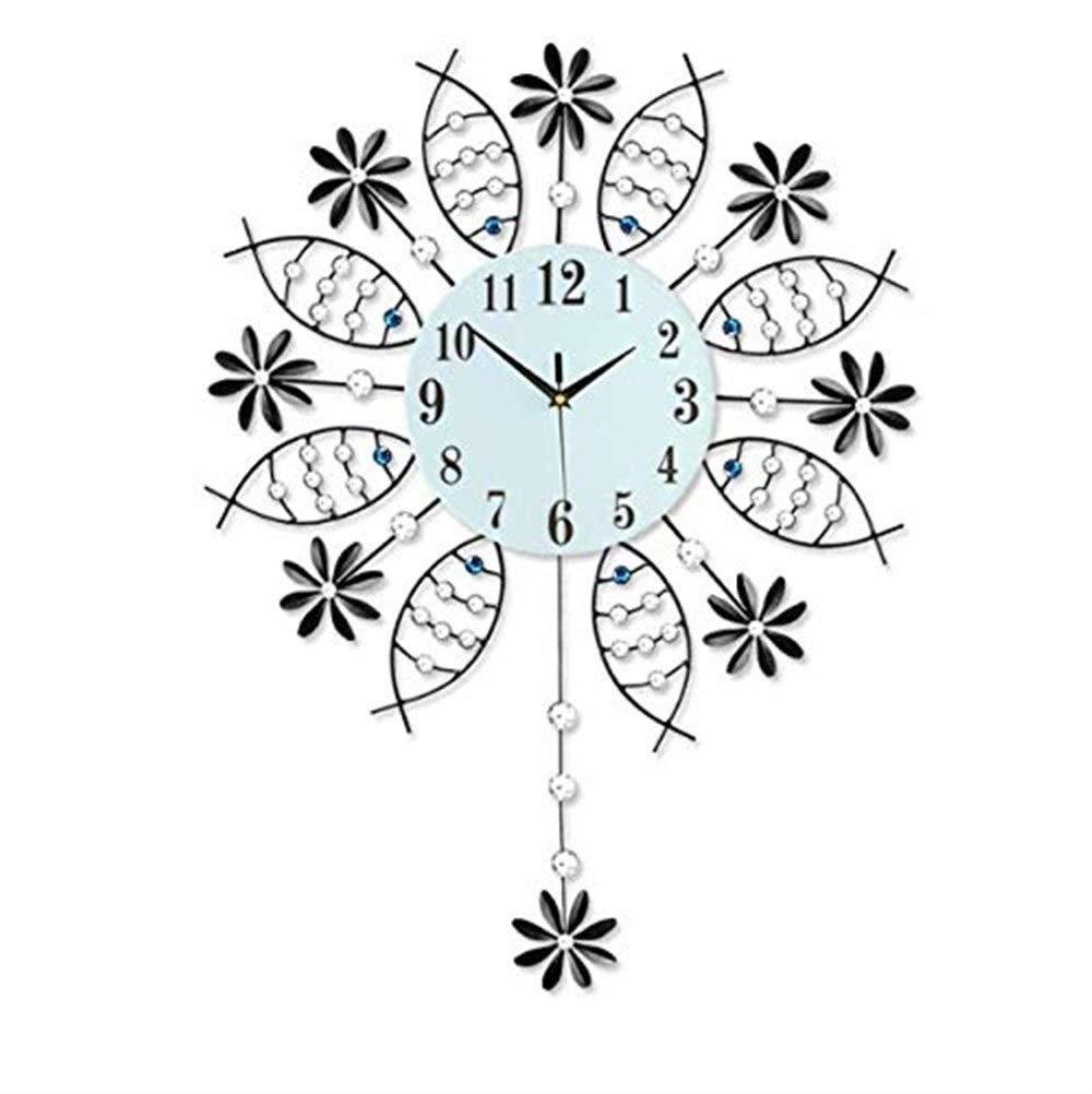 置き時計掛け時計 現代のミニマリストスイング時計壁時計創造的なリビングルームの時計アート魚ぶら下げテーブル   B07RSQC8NW