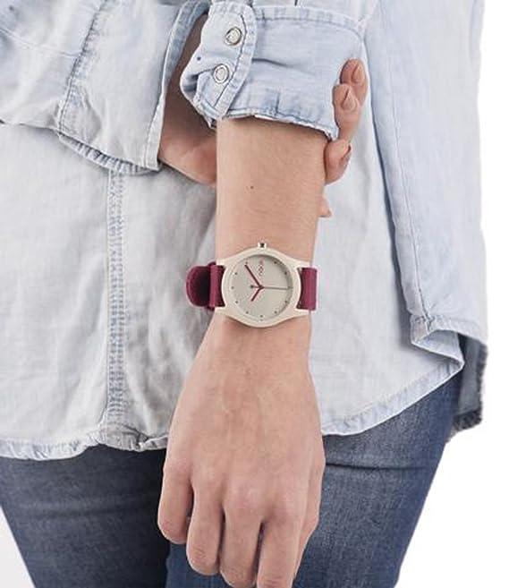 Naak Emma Cream Reloj para Unisex Analógico de Cuarzo con Brazalete de Nylon 017-NEMMA-CRE: Amazon.es: Relojes