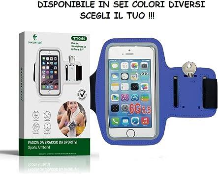 Cinta Deportiva de Brazo para Smartphones – Soporte para Smartphone de Brazo Universal Ideal para Correr, Ajustable, Apto para Smartphones hasta 5.5
