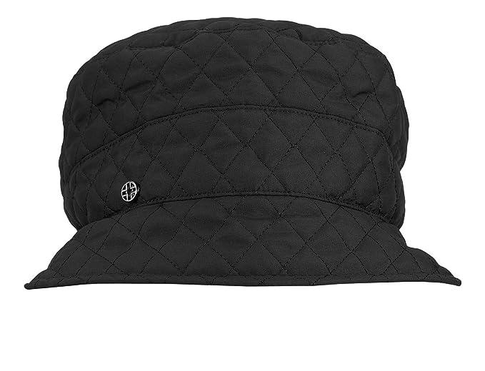 Loevenich - Cappello da Pioggia Trapuntato per Donna - Moda Femminile  Outdoor Colore  Black a9480da193e3