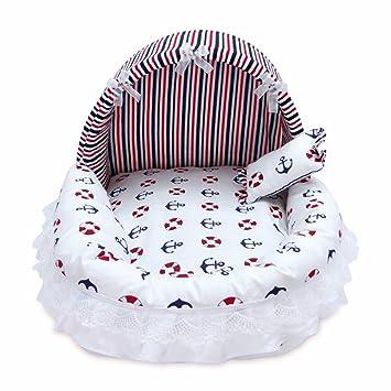Pet Online Cama de perro caliente de algodón transpirable lavable extraíble cojines de Pet, S: 38 * 34 * 30 cm, rayas de la marina: Amazon.es: Productos ...