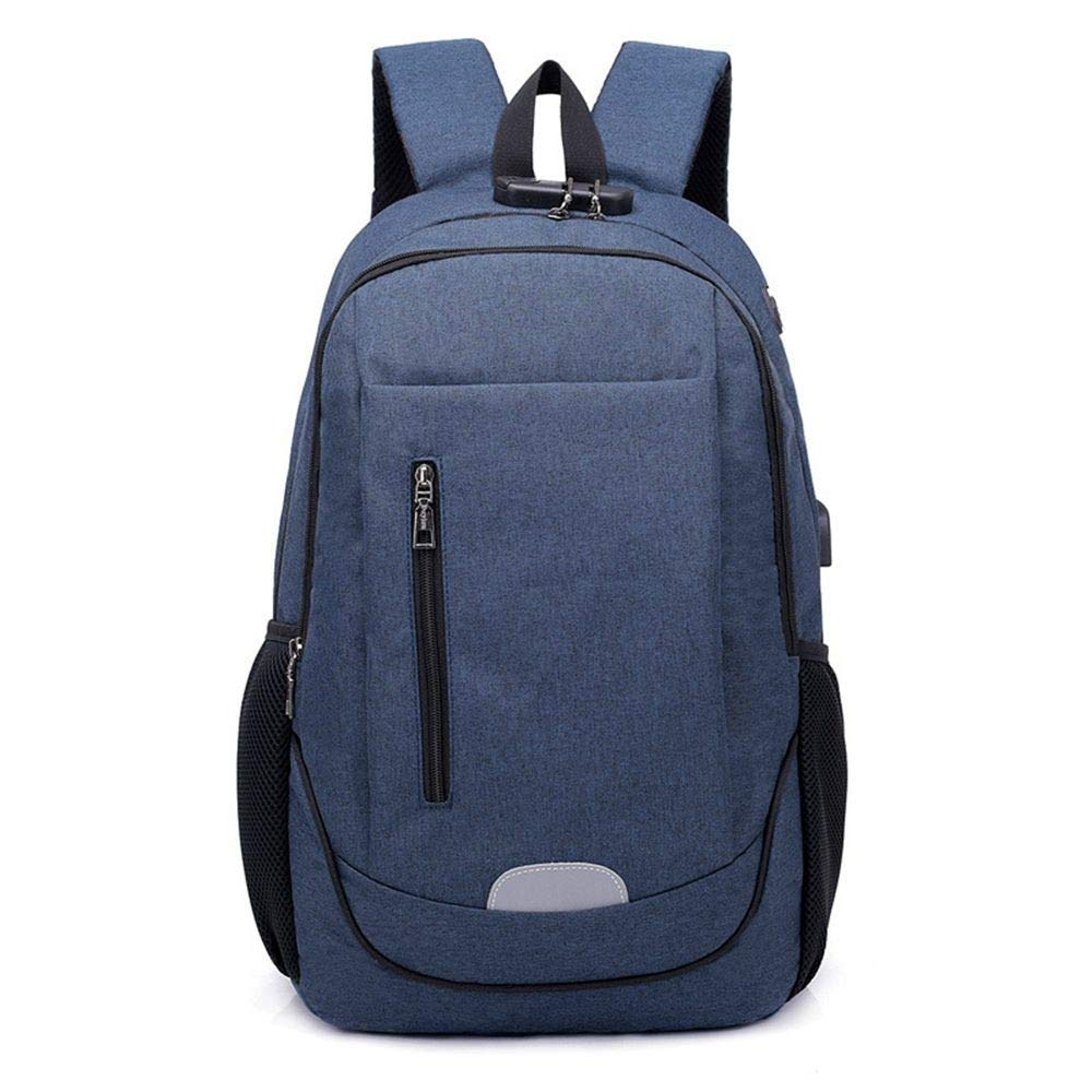 DYR Outdoor Travel Bag Casual Backpack Male and Female USB Charging Computer Bag Backpack Shoulder Bag Chest Bag Student Bag, bluee, 15.6 Inch