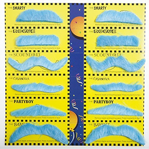 Forum Novelties 70632 Blue Mustache Party Pack ()