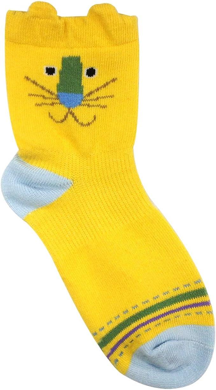 XL Set of 6 Allydrew Peek A Boo Animal Toddler Socks
