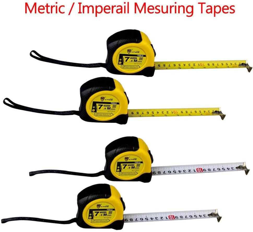 le travail et la bo/îte /à outils Powertool LTMS M/ètre ruban m/étrique r/étractable 5 m 10 m avec ruban en acier blanc pour la maison