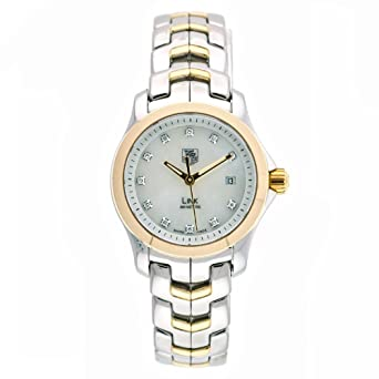 1b8b49b5ca6d Image Unavailable. Image not available for. Color  TAG Heuer Women s  WJF1353.BB0581 Diamond Accented Two-Tone Link Watch