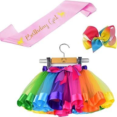 Amazon.com: BGFKS Disfraz de tutú para niñas pequeñas, falda ...