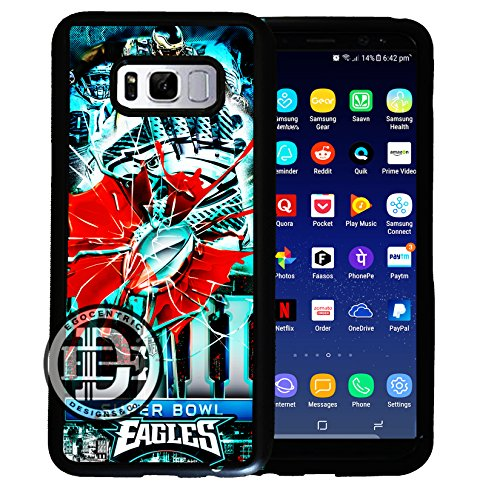 (Galaxy s8) EGOCENTRIC DESIGN & CO. New 2018 Eagles Shattered Glass Super Bowl Fan Art TPU Rubber Silicone Phone - Jacksonville Eye Glass