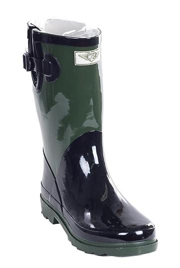 Women Rain Boots Mid-Calf 11'' Rubber Booties