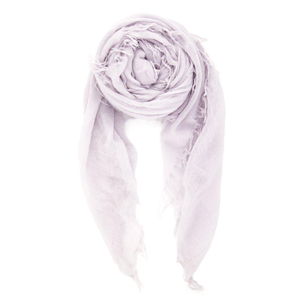 Chan Luu Women's Combo Cashmere Silk Scarf 62 x 58 in Lavender Fog