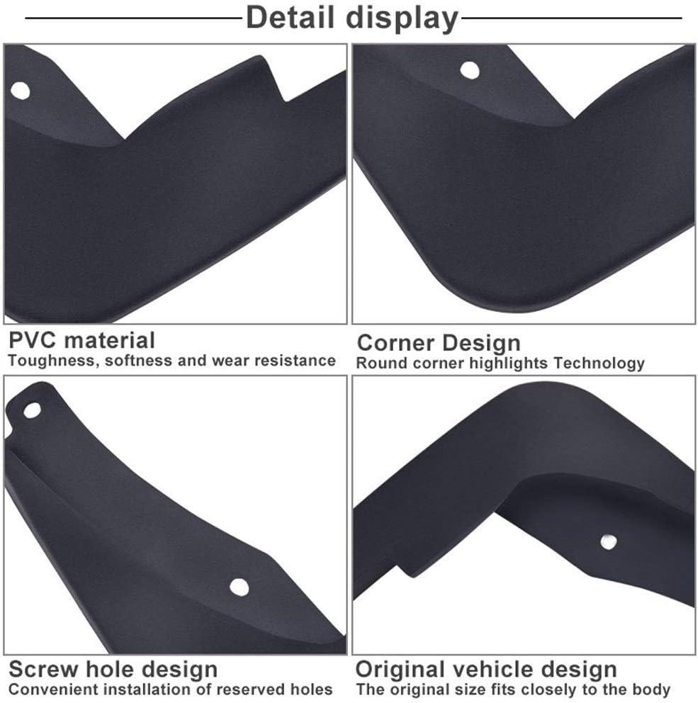 Garde-boues 4pcs bavettes garde-boue avant arri/ère boue Rabats Flap Bavettes garde-boue for Vauxhall Opel Astra J//Buick Verano 2010-2016 Color : Black