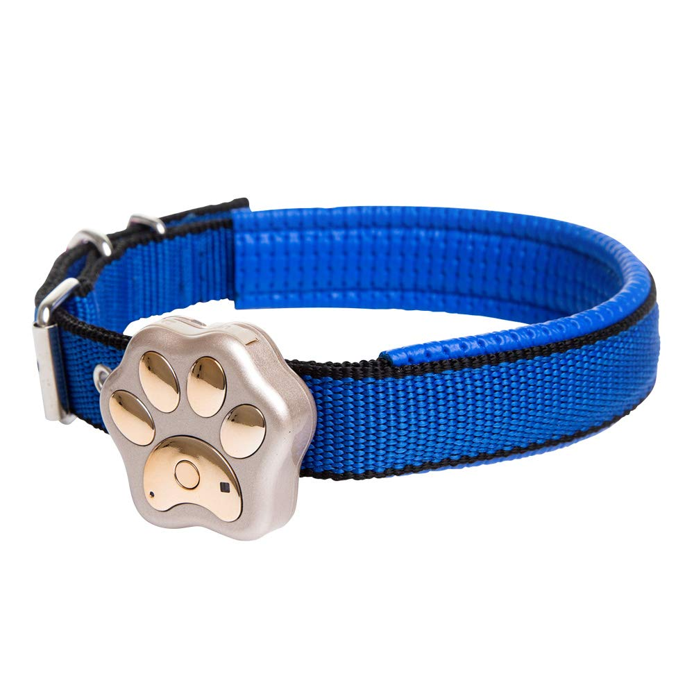 bluee Pet Locator WIFI Micro Positioning Tracker gps Tracker Dog Locator Anti-lost Smart Pet GPS Track Collar Tracker for Pets, Loss Prevention, Locator, Geofence,bluee