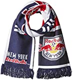new york red bulls flag - MLS New York Red Bulls SP17 Fan Wear Repeating Logo Jacquard Scarf, Blue, One Size