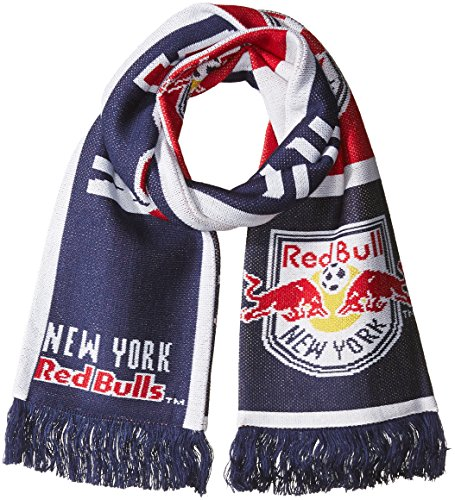 fan products of MLS New York Red Bulls SP17 Fan Wear Repeating Logo Jacquard Scarf, Blue, One Size